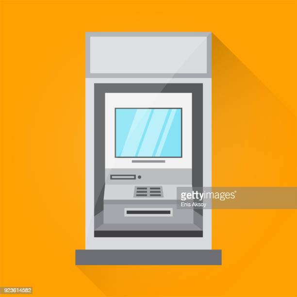 Cash Machine Flat Icon