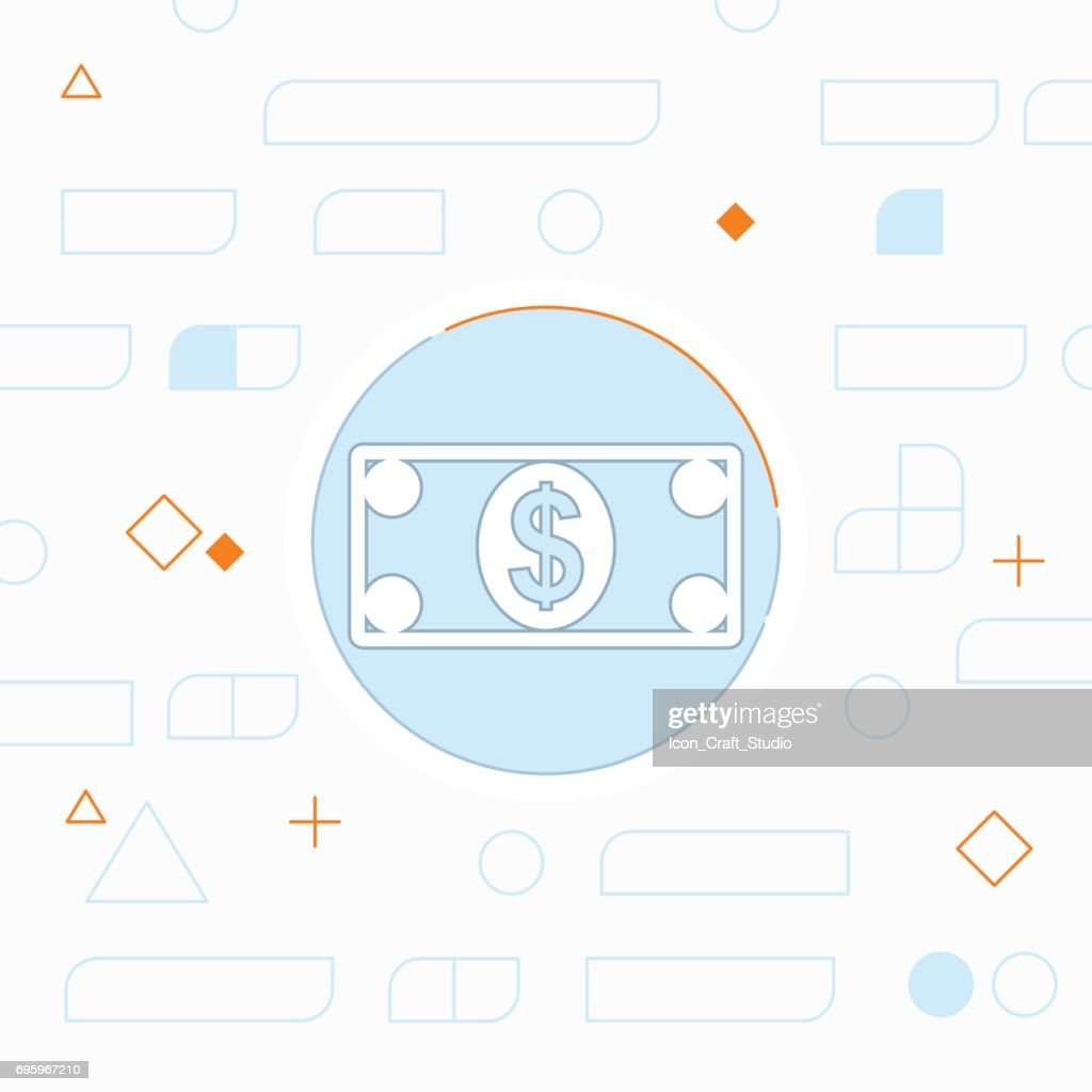 Cash paper money vector flat icon