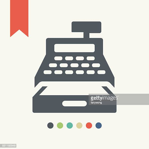 cash register icon - cash register stock illustrations