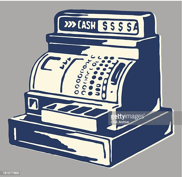 cash register - cash register stock illustrations