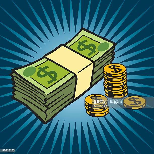 cash - abundance stock illustrations