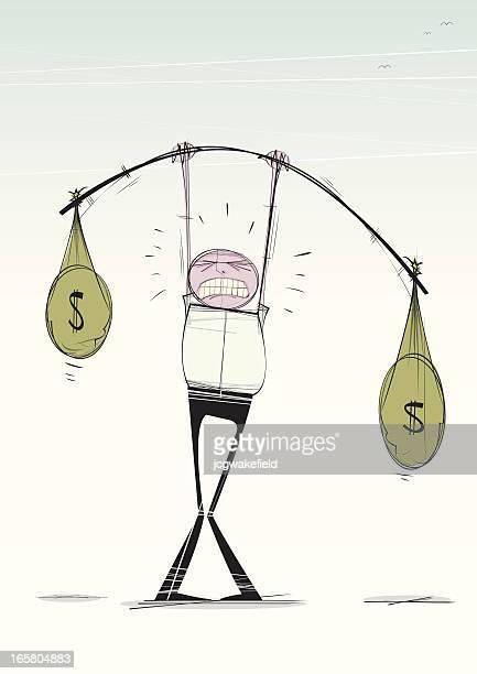 cash weightlifter - aspen tree stock illustrations, clip art, cartoons, & icons