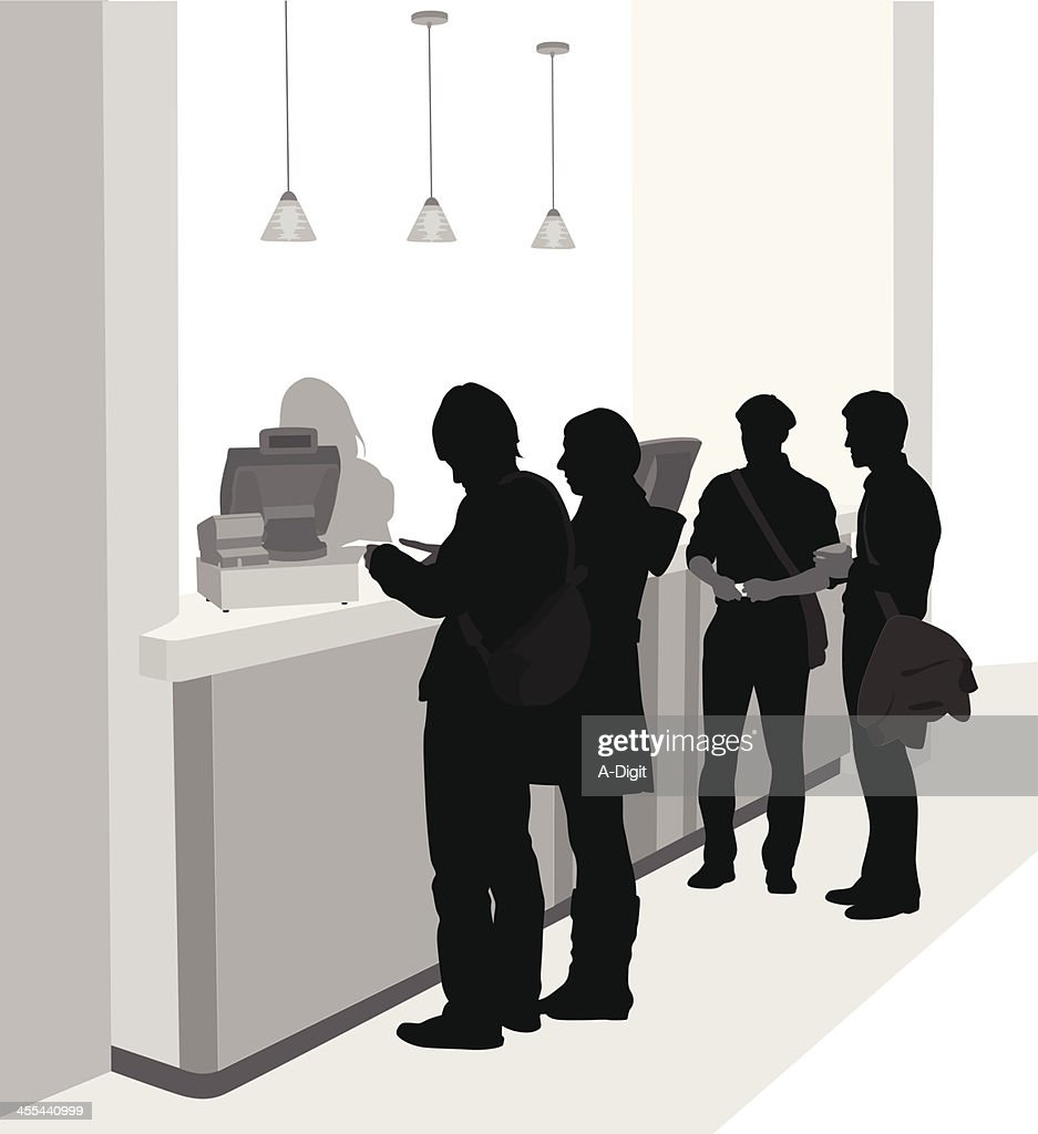 Cashier Lineup : stock illustration