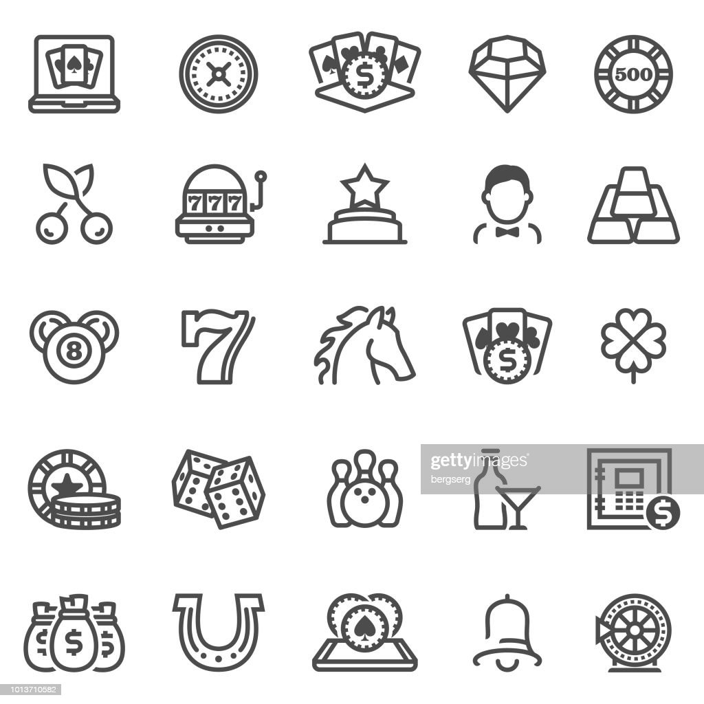 Casino and Gambling Games Icons : stock illustration