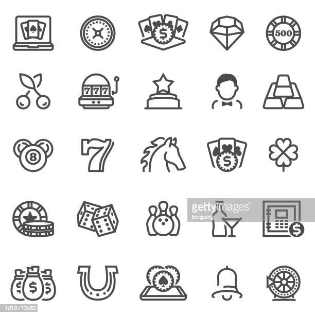 Casino and Gambling Games Icons