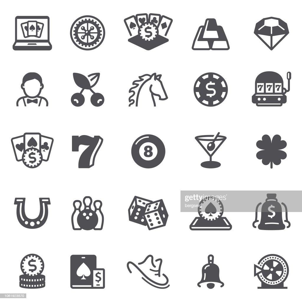 Casino and Gambling Icons : stock illustration
