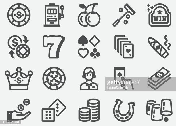 casino and gambling icons - casino stock illustrations