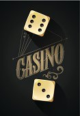 Casino background with dices on table