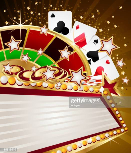 Casino Background with Marquee Display