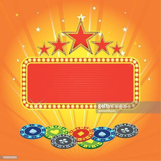 casino banner vector - jackpot stock illustrations, clip art, cartoons, & icons