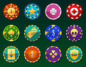 Casino Chips Clay Token Currency Play Money
