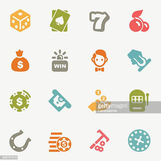 Casino color variations icons | EPS10