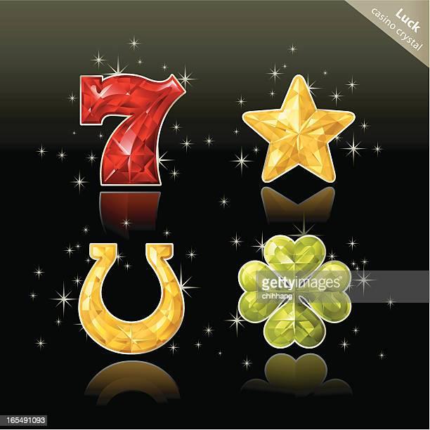 casino crystal (lucky) - good luck charm stock illustrations