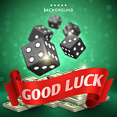Casino dice gambling vector background. Good luck concept