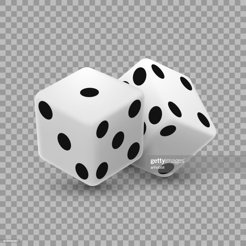 Casino dice on a transparent background.