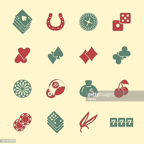 casino gambling icons - color series | eps10 - pool ball stock illustrations