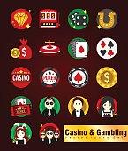 Casino & Gambling  Vector Icons Set