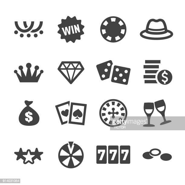 casino icons - acme series - bingo stock illustrations