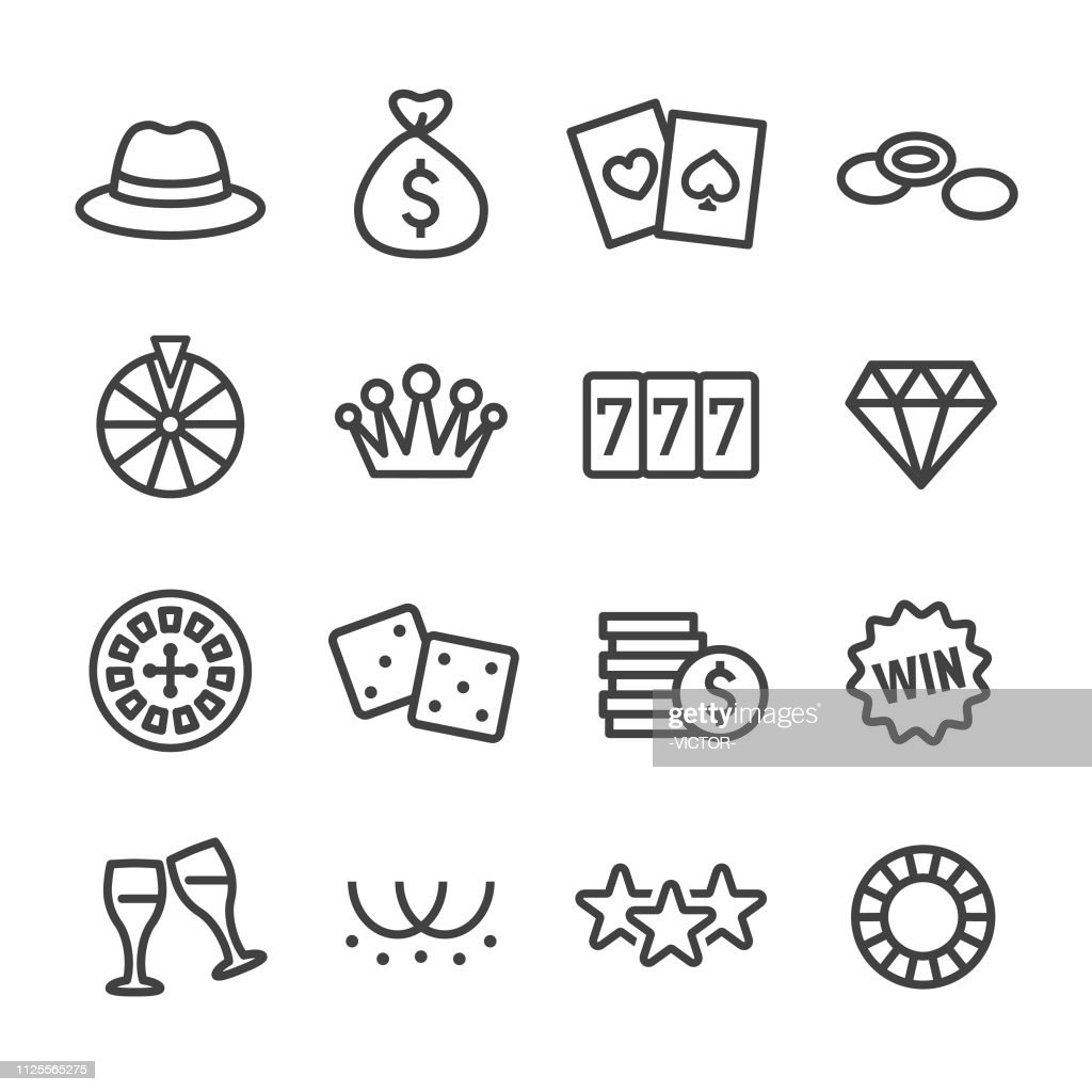 Casino Icons - Line Series : stock illustration