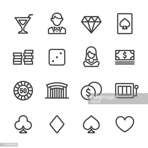 Casino Icons Set - Line Series