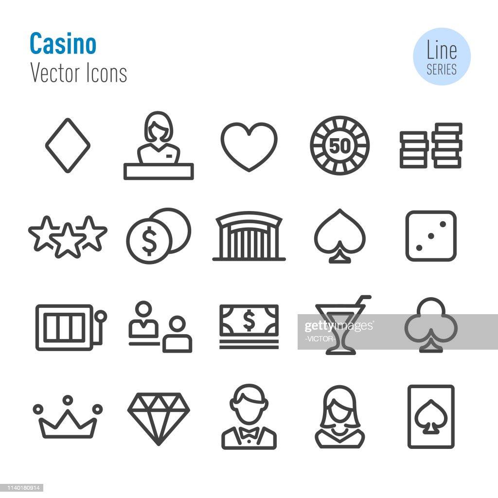 Casino Icons Set - Vector Line Series : stock illustration