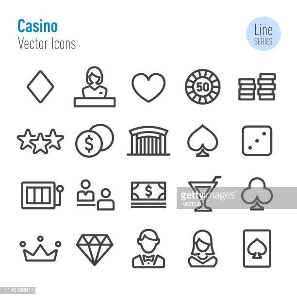 Casino Icons Set - Vector Line Series