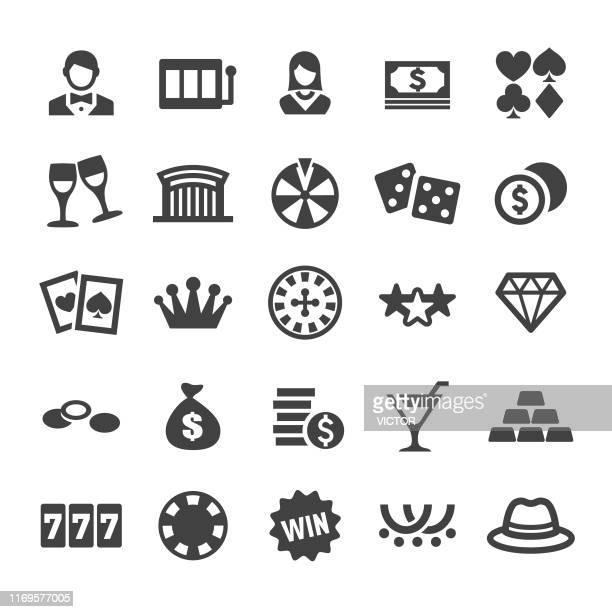 casino icons - smart series - casino stock illustrations