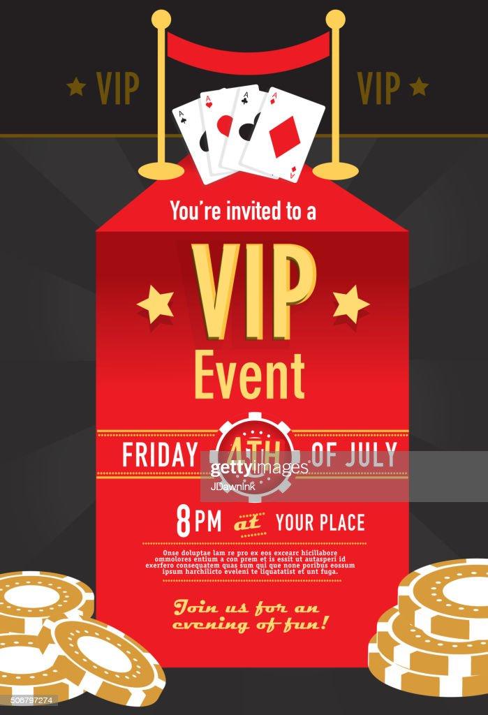 Vip Casino Night Invitation Design Template Vector Art Getty Images