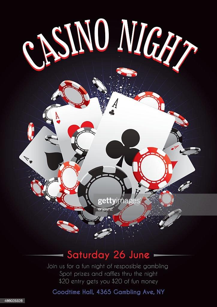 Casino night poster : stock illustration