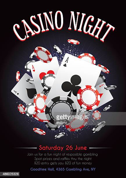 casino night poster - ace stock illustrations, clip art, cartoons, & icons