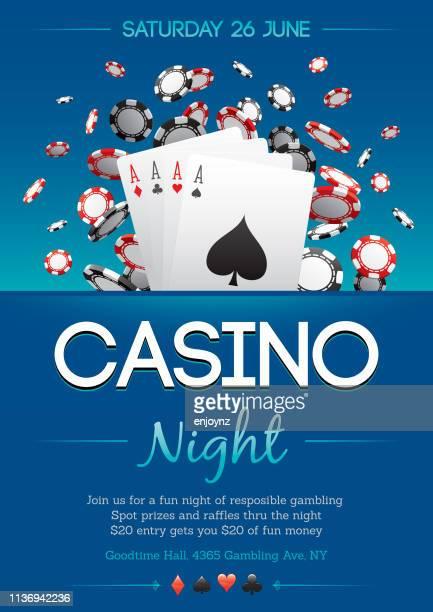 casino party - casino stock illustrations