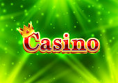 Casino signboard, text banner background.