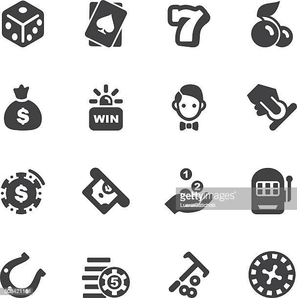 Casino Silhouette icons 1 | EPS10