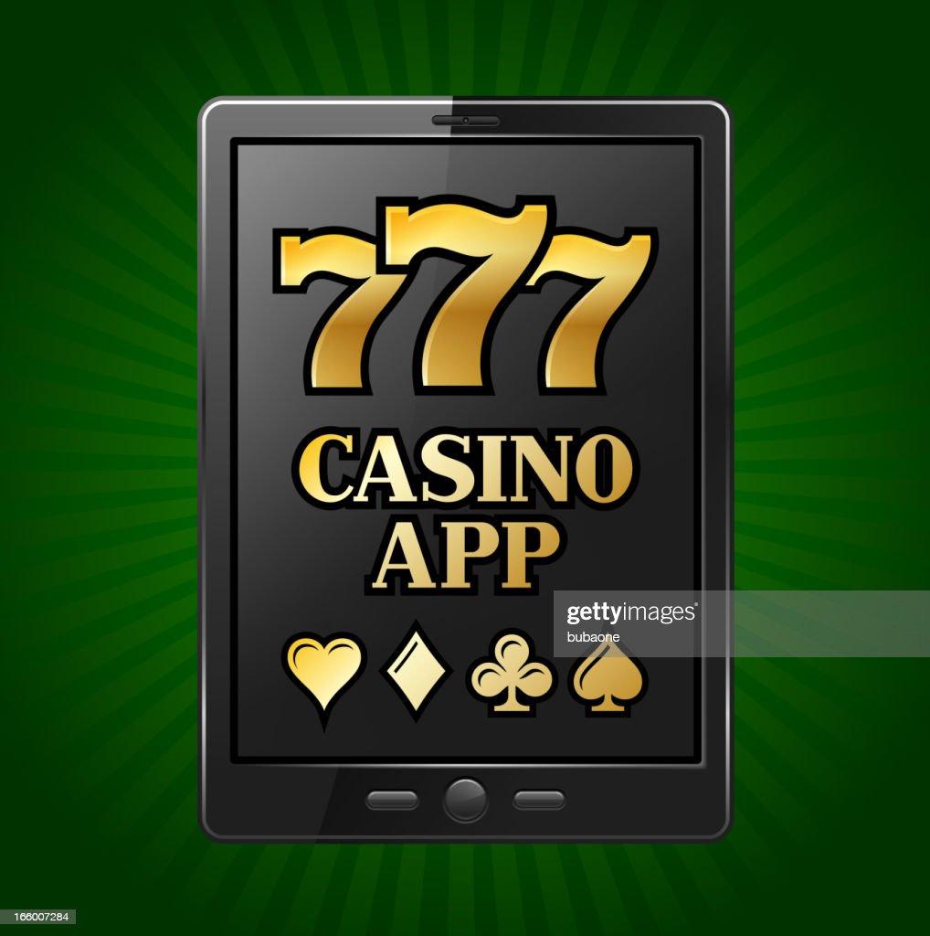 Casino Slot Machine Sevens on Digital Tablet : Vector Art
