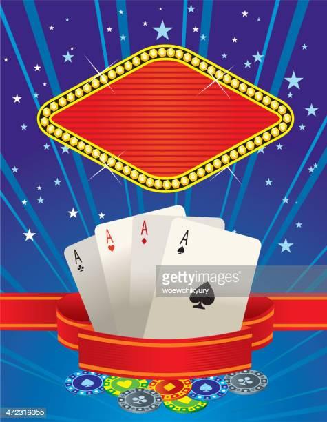 casino vector banner poker - jackpot stock illustrations, clip art, cartoons, & icons