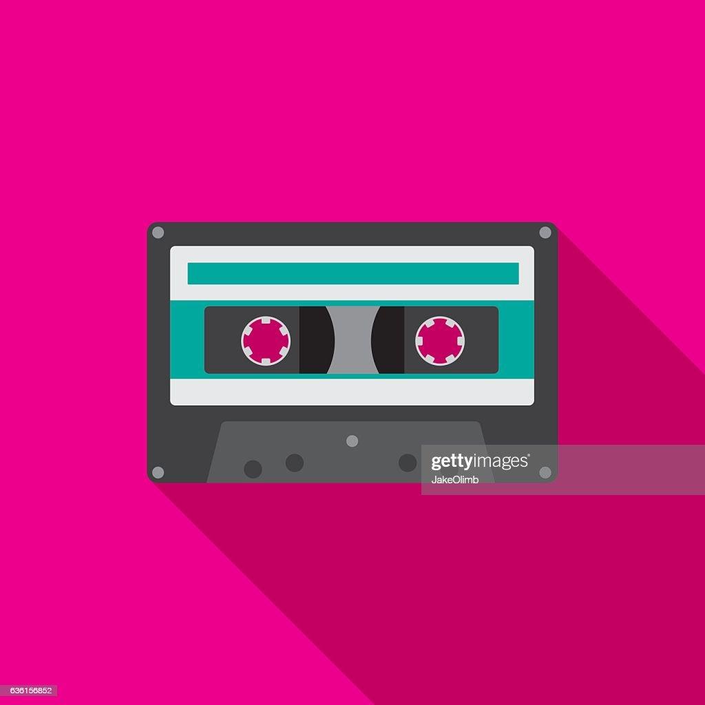 Cassette Icon Flat : stock vector