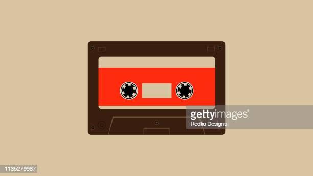 cassette tape icon - human settlement stock illustrations, clip art, cartoons, & icons