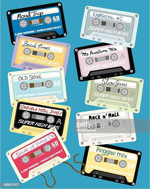 ilustrações de stock, clip art, desenhos animados e ícones de fitas cassette - reggae