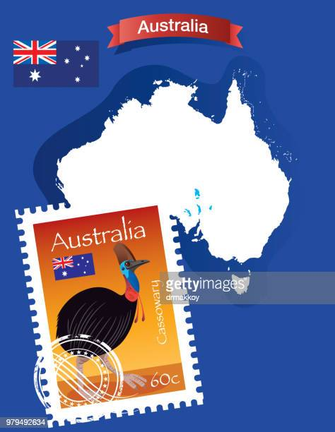 Cassowary Stamp and Australia