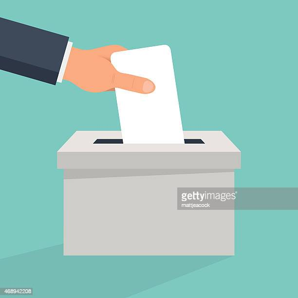 cast your vote - ballot box stock illustrations