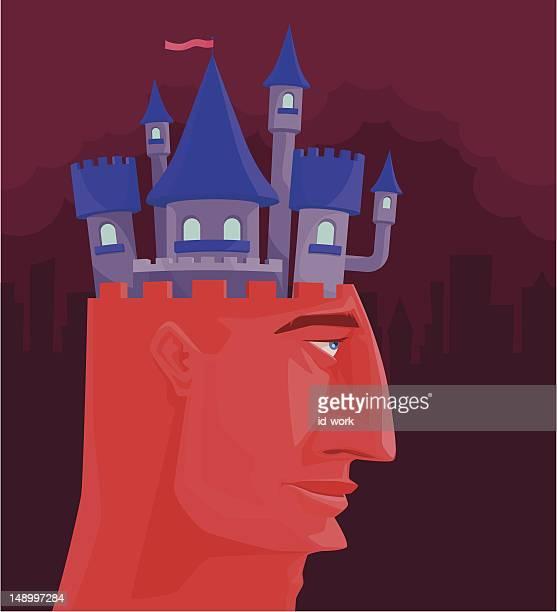 ilustraciones, imágenes clip art, dibujos animados e iconos de stock de castillo de cabeza - torre pieza de ajedrez