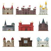 Castle tower vector building