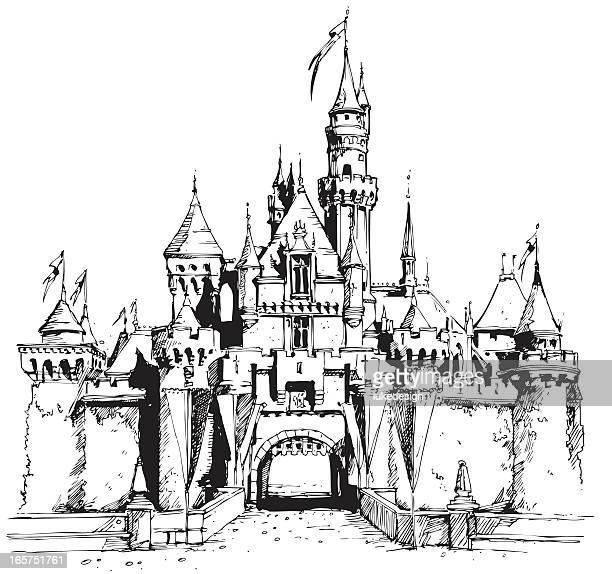 castle - spire stock illustrations, clip art, cartoons, & icons