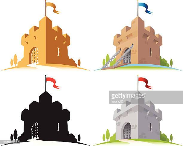 castle - castle stock illustrations