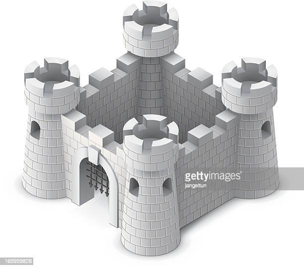 城 - 石垣点のイラスト素材/クリップアート素材/マンガ素材/アイコン素材