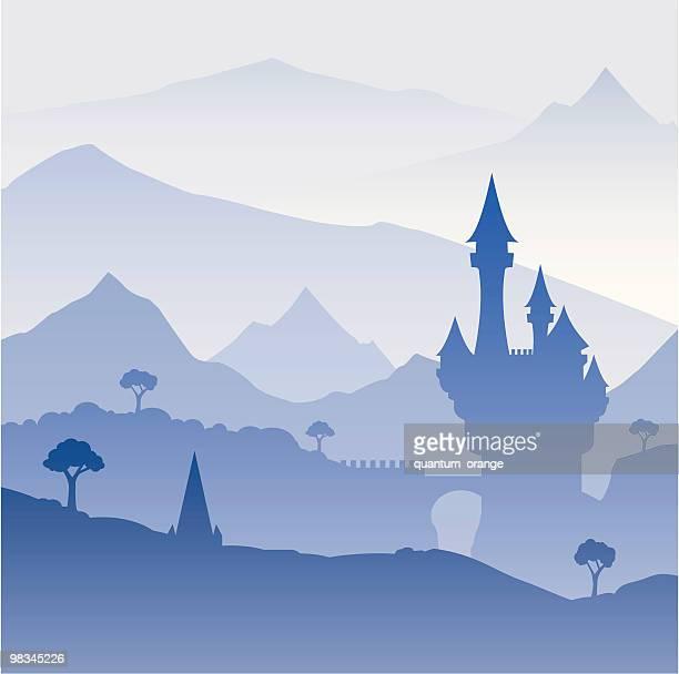ilustrações, clipart, desenhos animados e ícones de castelo - castelo