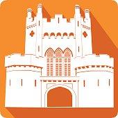 Castle, vector illustration