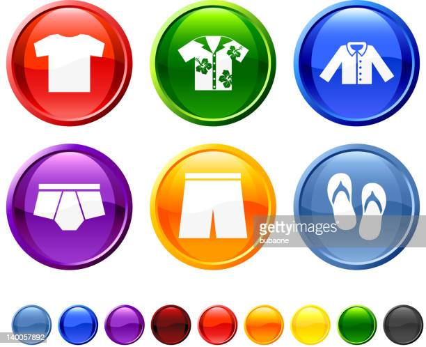 casual clothing royalty free vector icon set