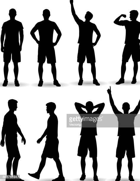 casual man posing - sportsperson stock illustrations