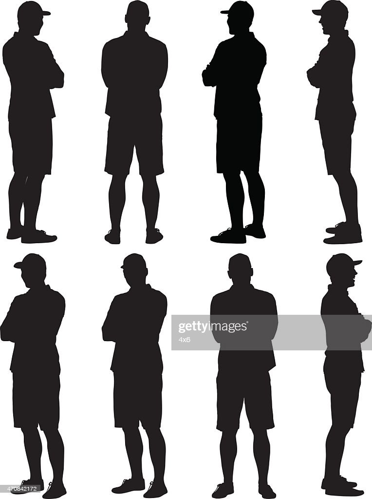 Casual man standing arms crossed